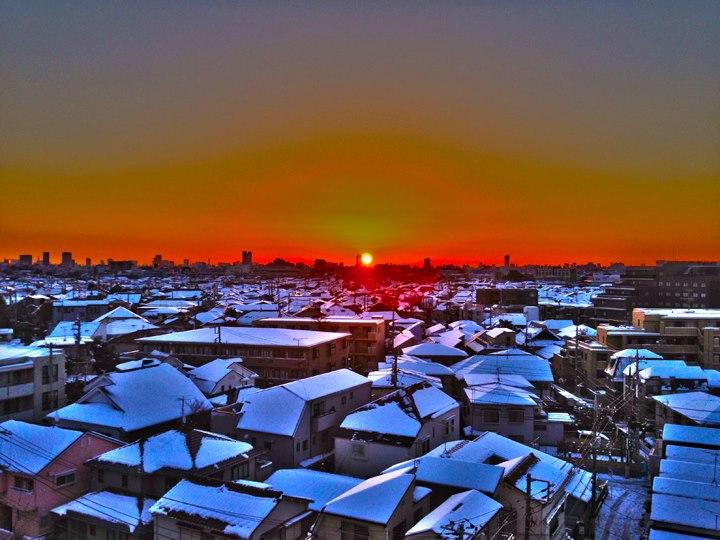 大雪翌朝20130115